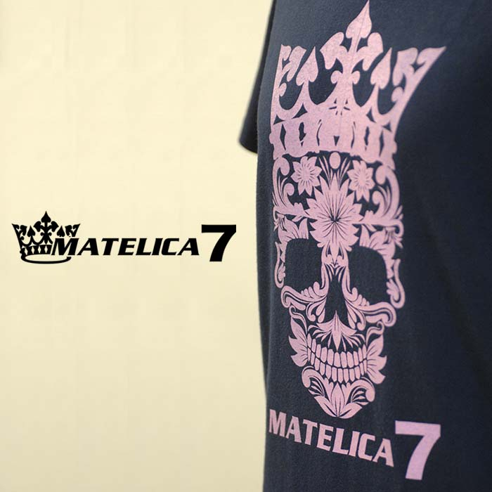 スカルレディースTシャツ 7LT15608